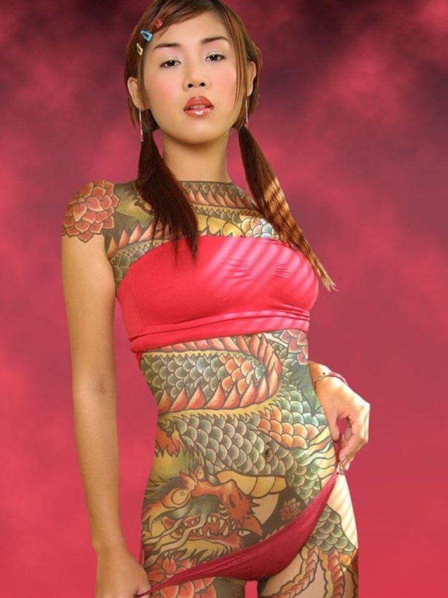 和彫りの刺青エロ画像 64