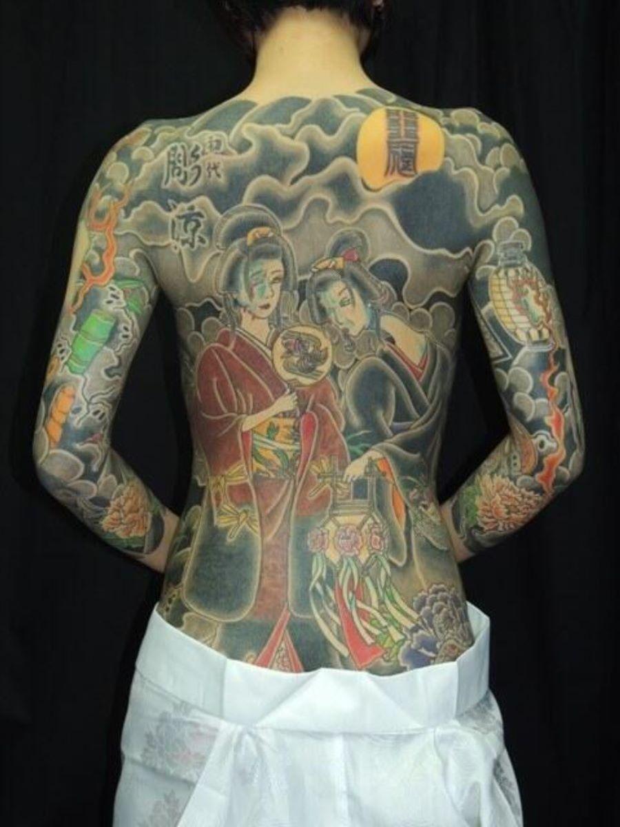和彫りの刺青エロ画像 65