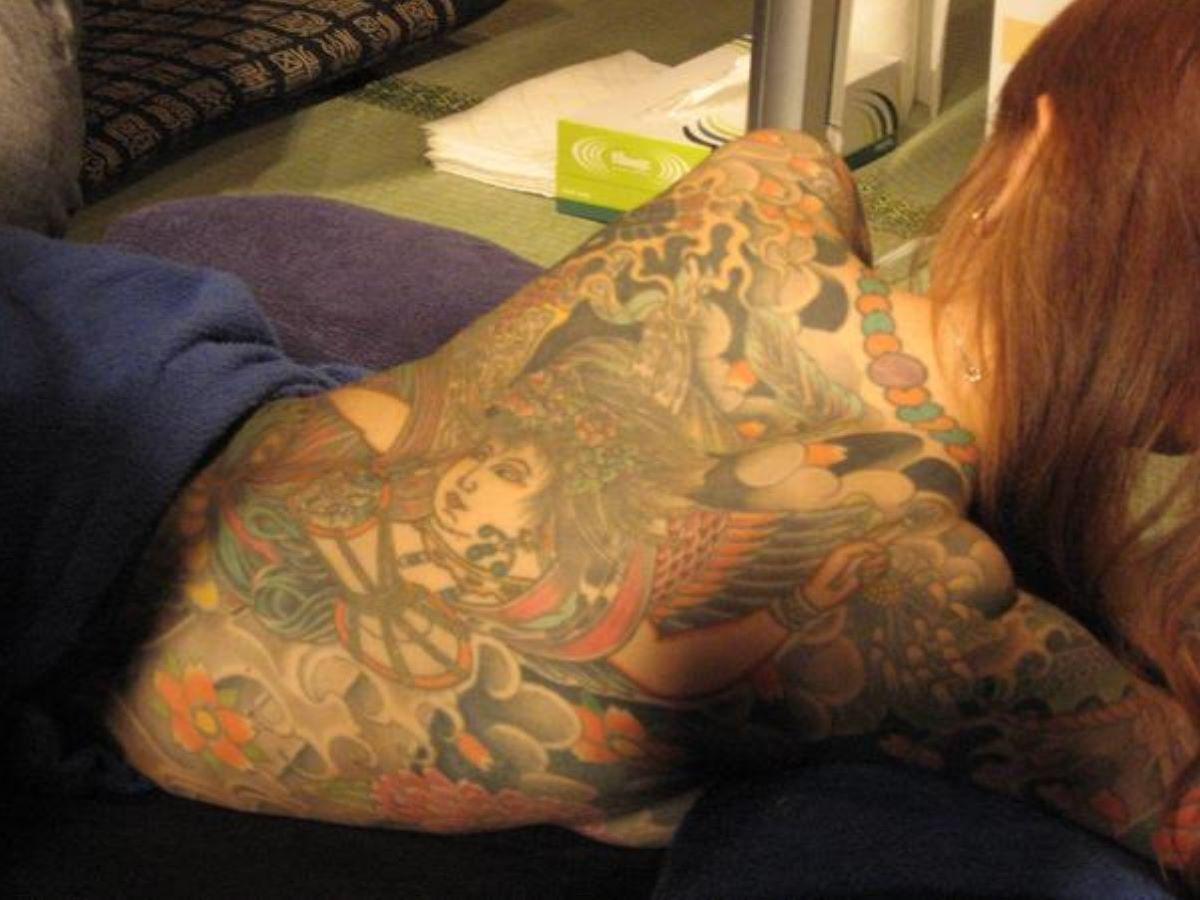 和彫りの刺青エロ画像 71