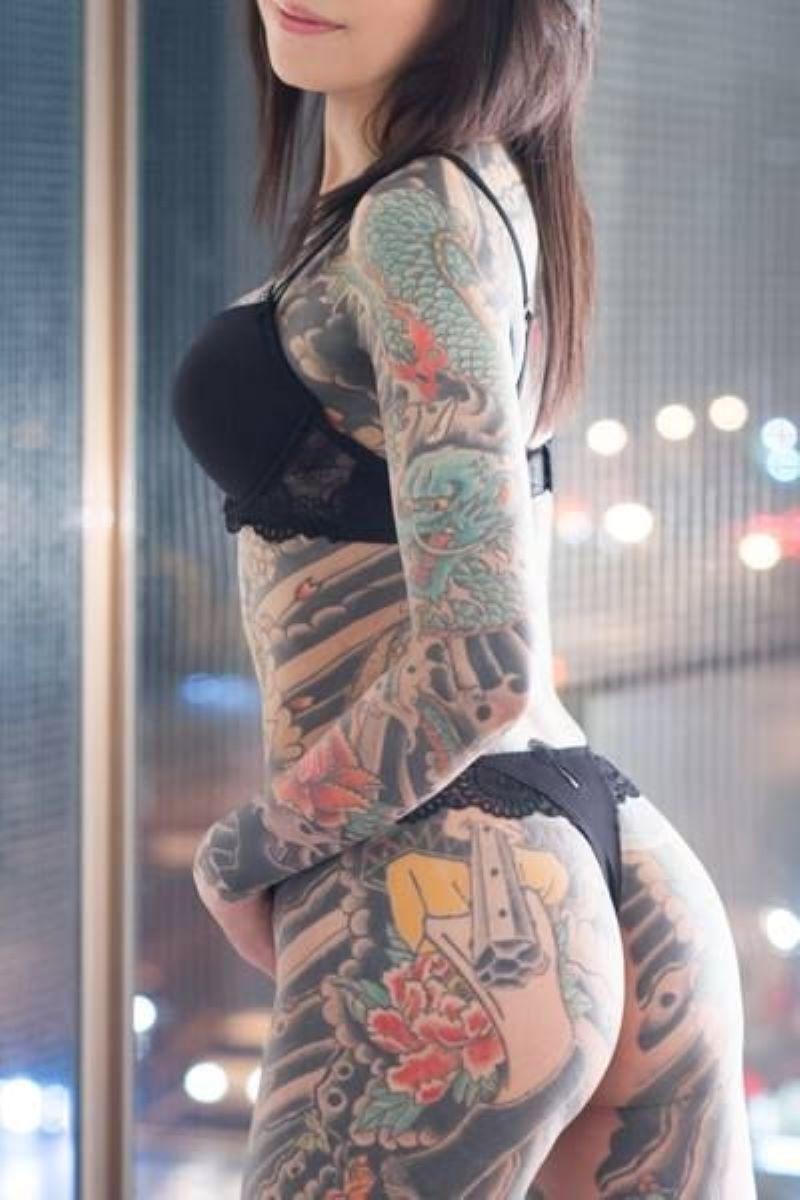 和彫りの刺青エロ画像 75