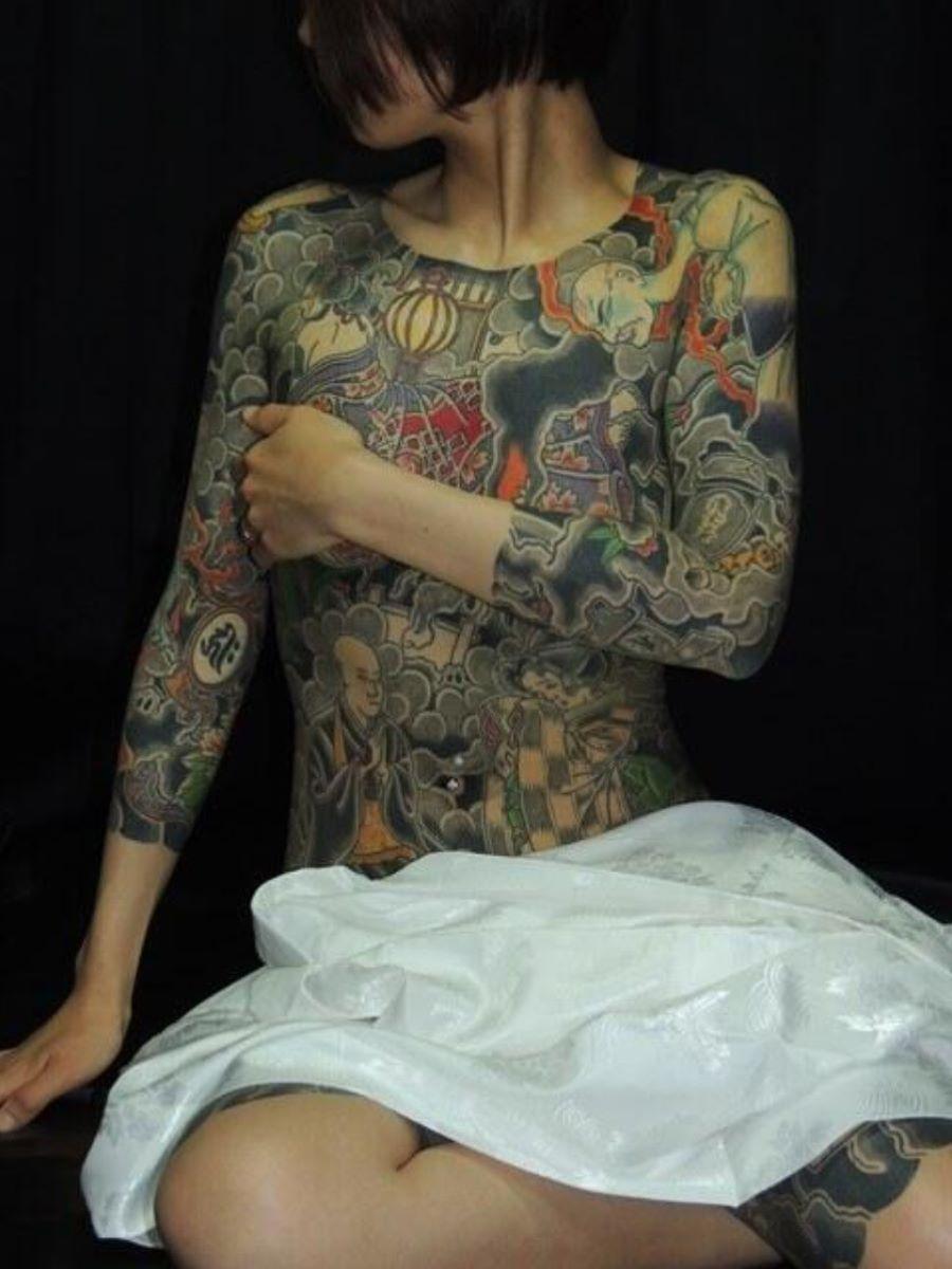 和彫りの刺青エロ画像 81