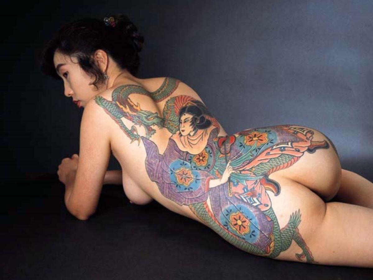 和彫りの刺青エロ画像 83