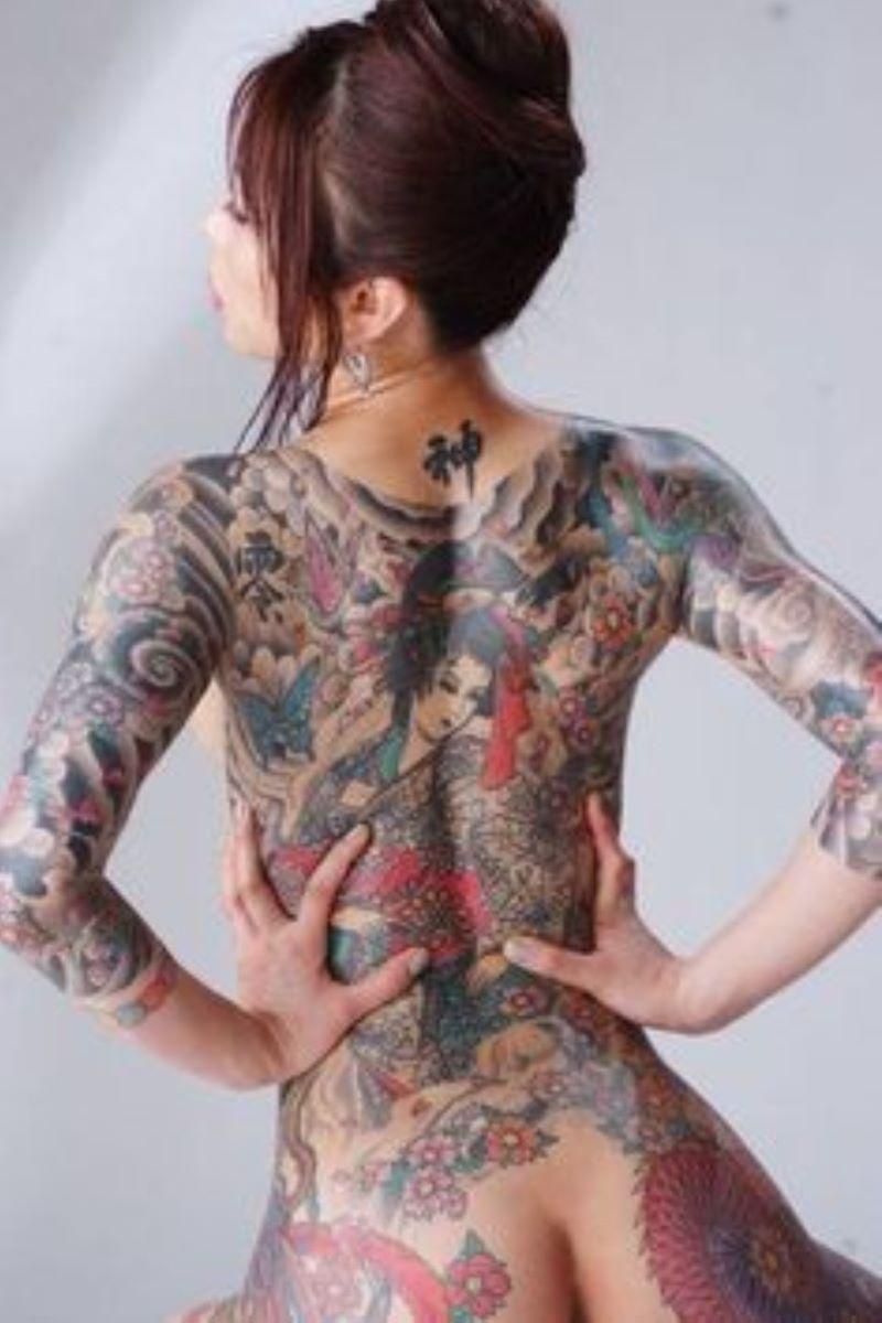 和彫りの刺青エロ画像 90