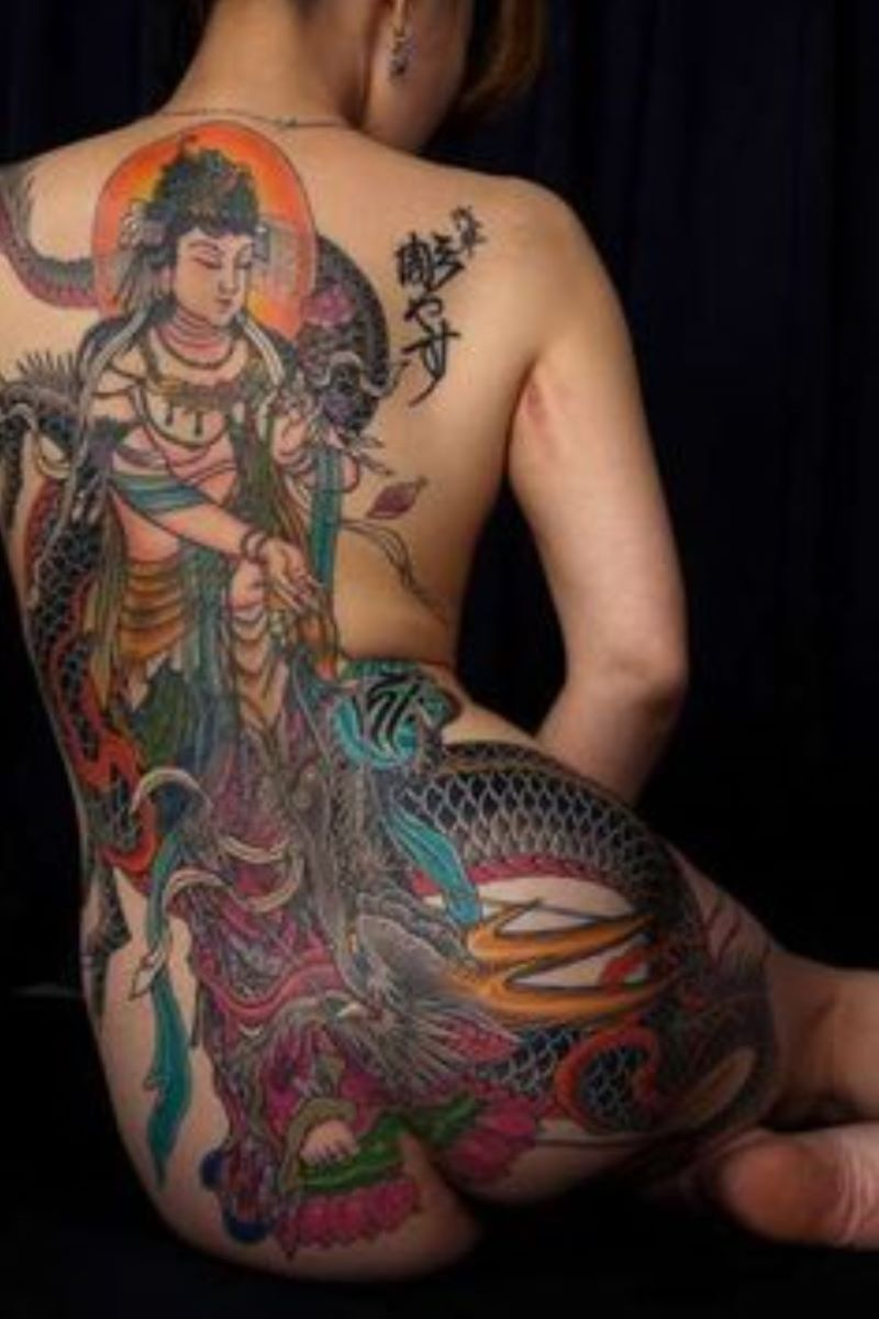 和彫りの刺青エロ画像 92