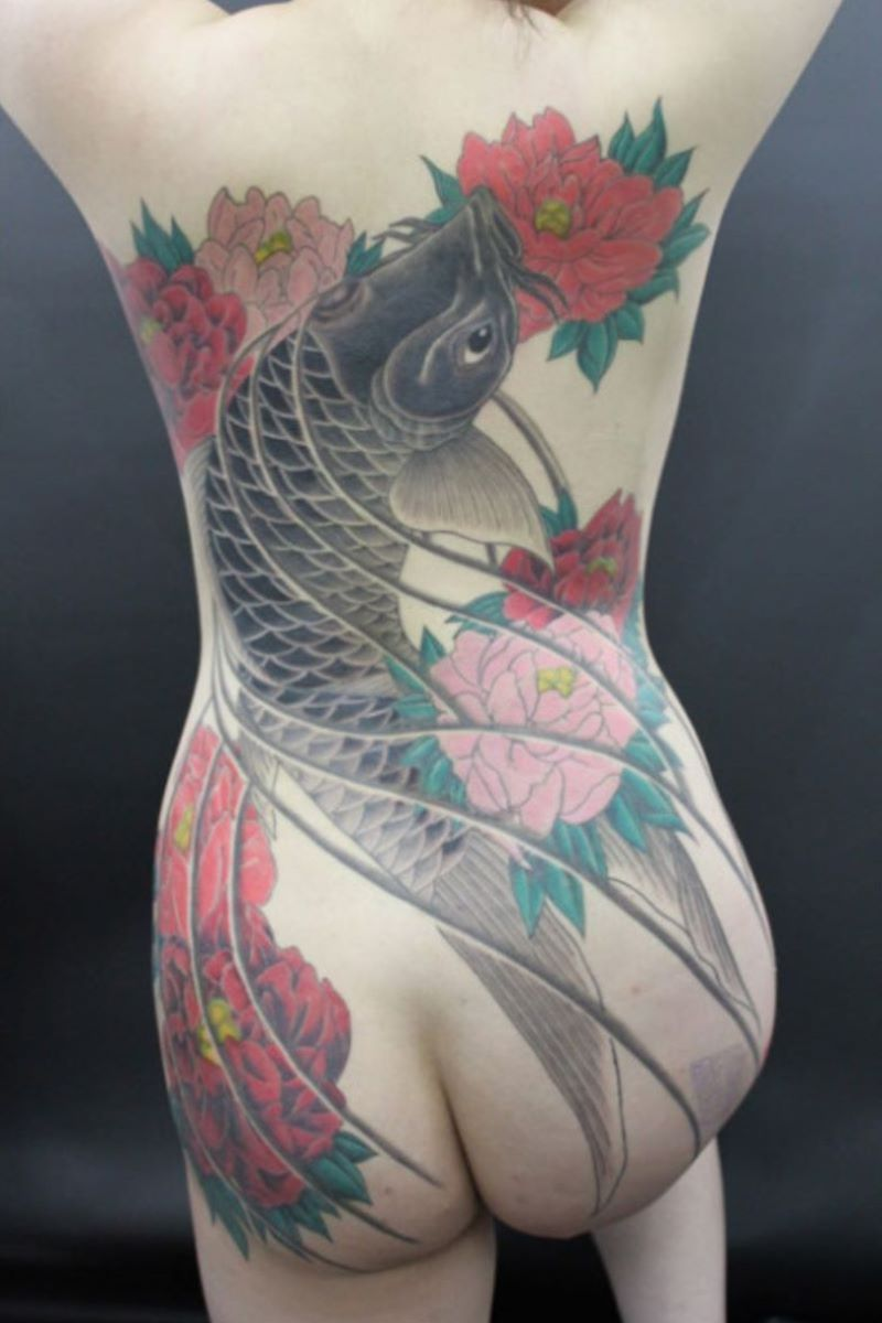 和彫りの刺青エロ画像 93
