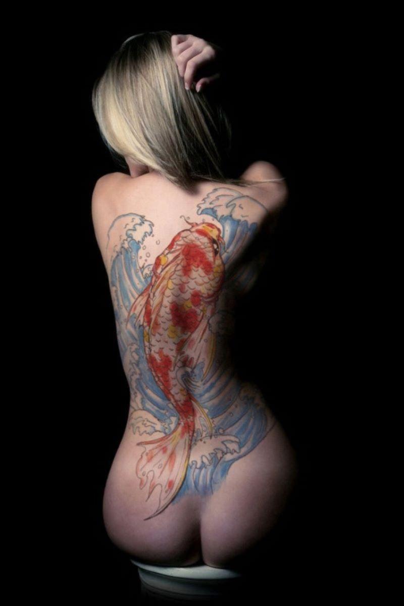 和彫りの刺青エロ画像 98