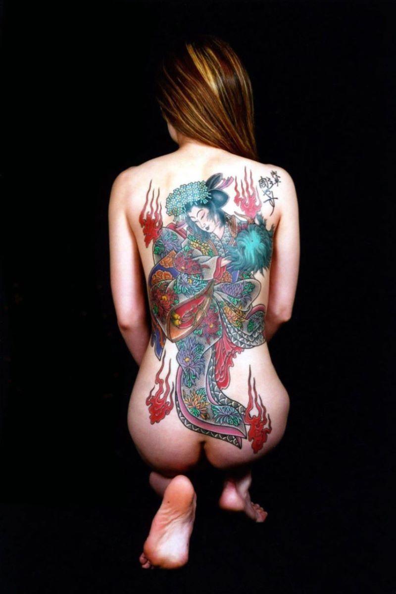 和彫りの刺青エロ画像 99