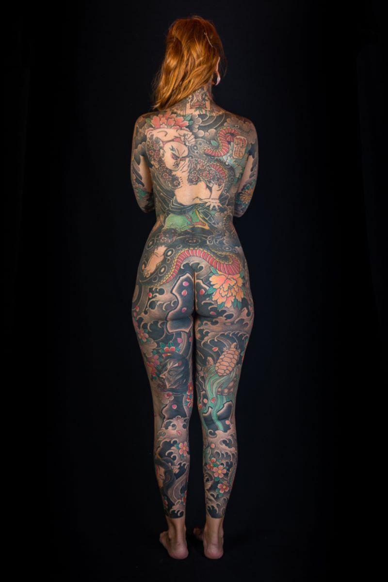 和彫りの刺青エロ画像 100