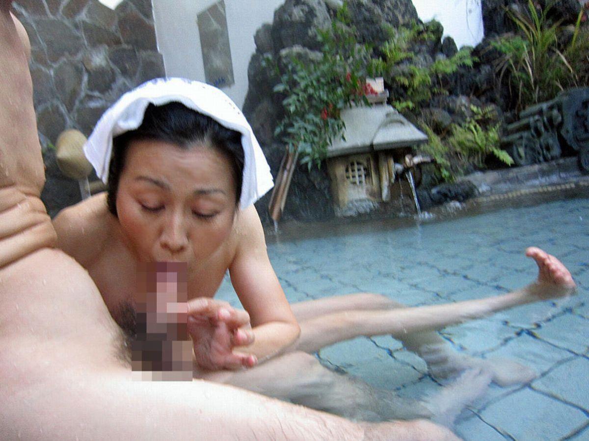 混浴露天風呂 エロ画像 16