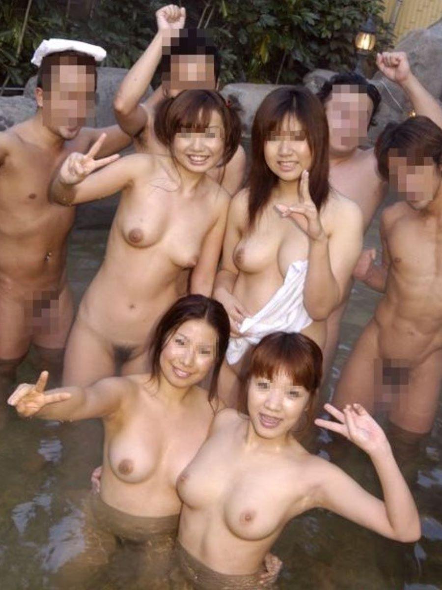 混浴露天風呂 エロ画像 65