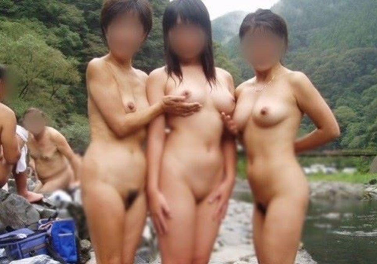 混浴露天風呂 エロ画像 88