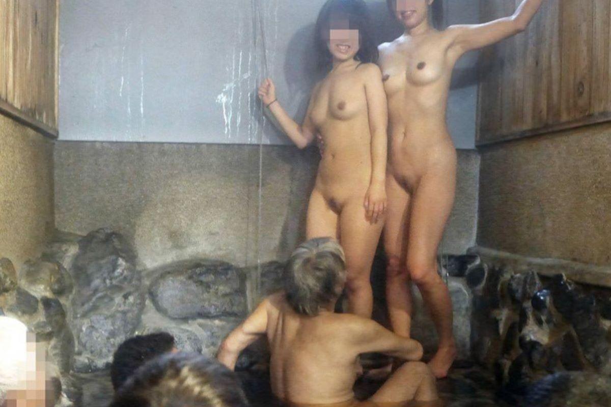 混浴露天風呂 エロ画像 89