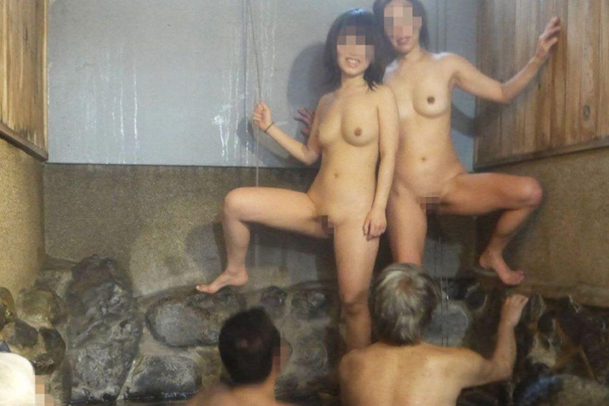 混浴露天風呂 エロ画像 91