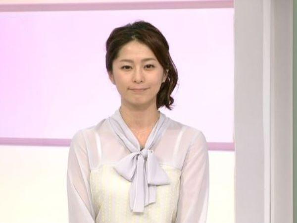 NHK 杉浦友紀 アナ アナウンサー 乳首 キャプ画像 2