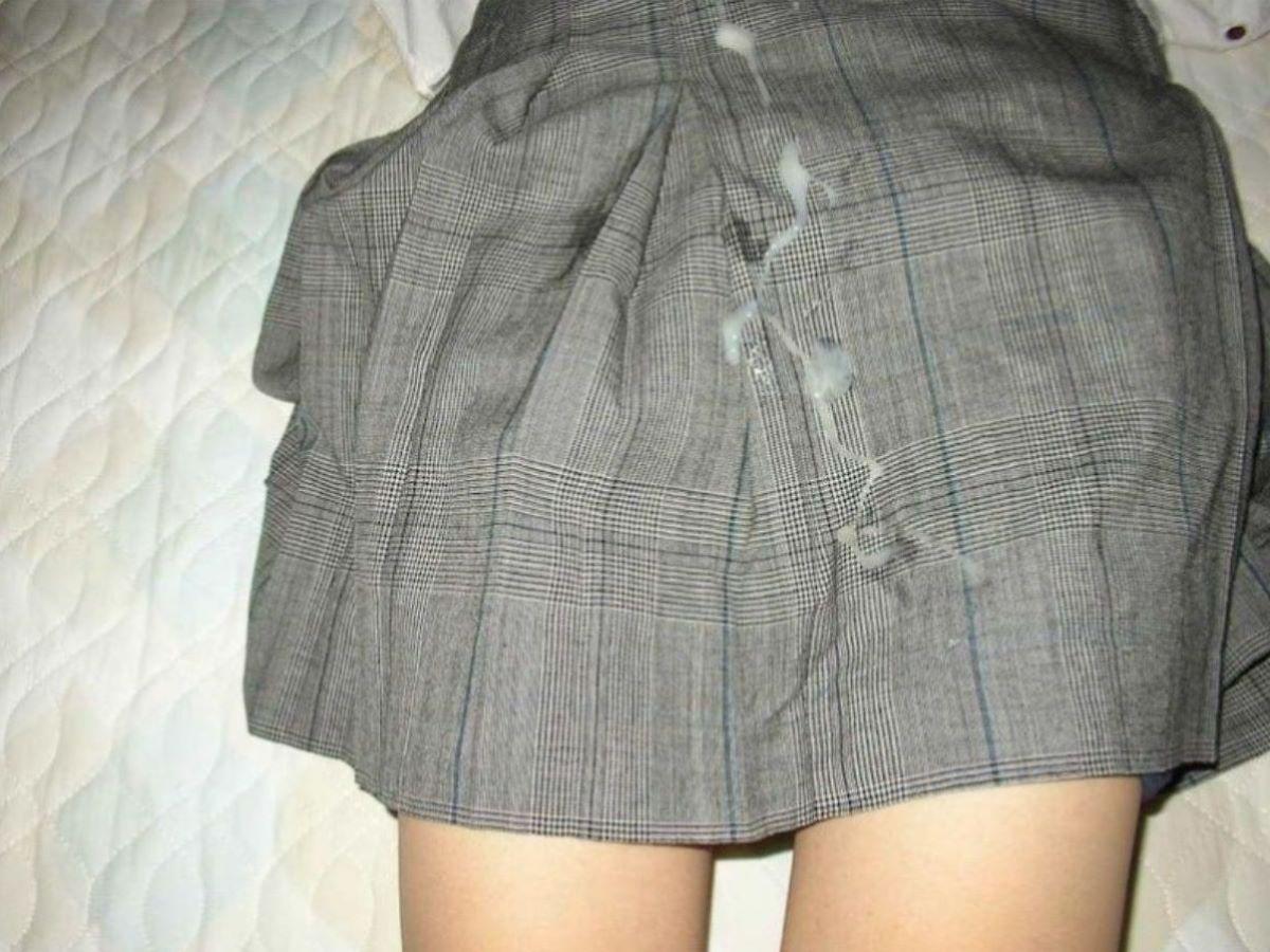 制服JK ぶっかけ画像 10