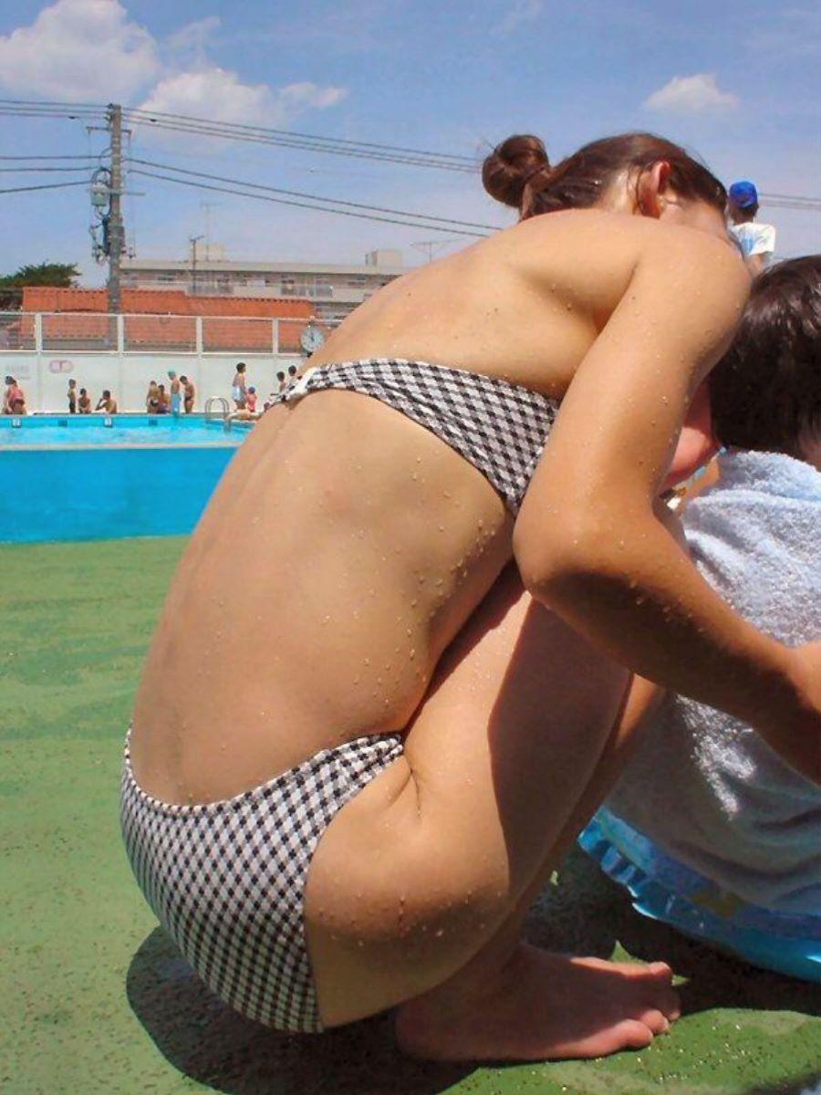 若い子連れママ 水着画像 57