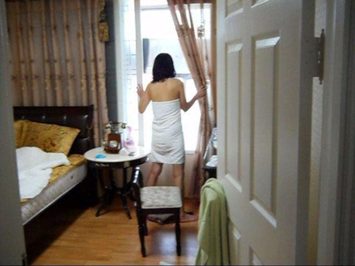 お風呂上がり 家庭内 エロ画像 53