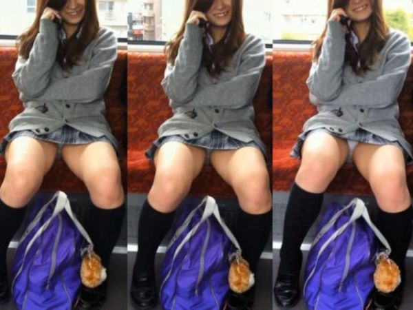 ミニスカ JK 平成生まれ 女子高生 パンチラ エロ画像 2