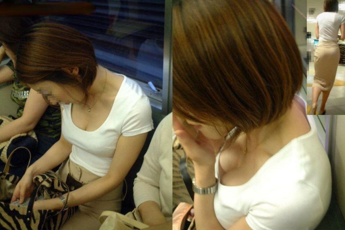 熟女 胸チラ 画像 66