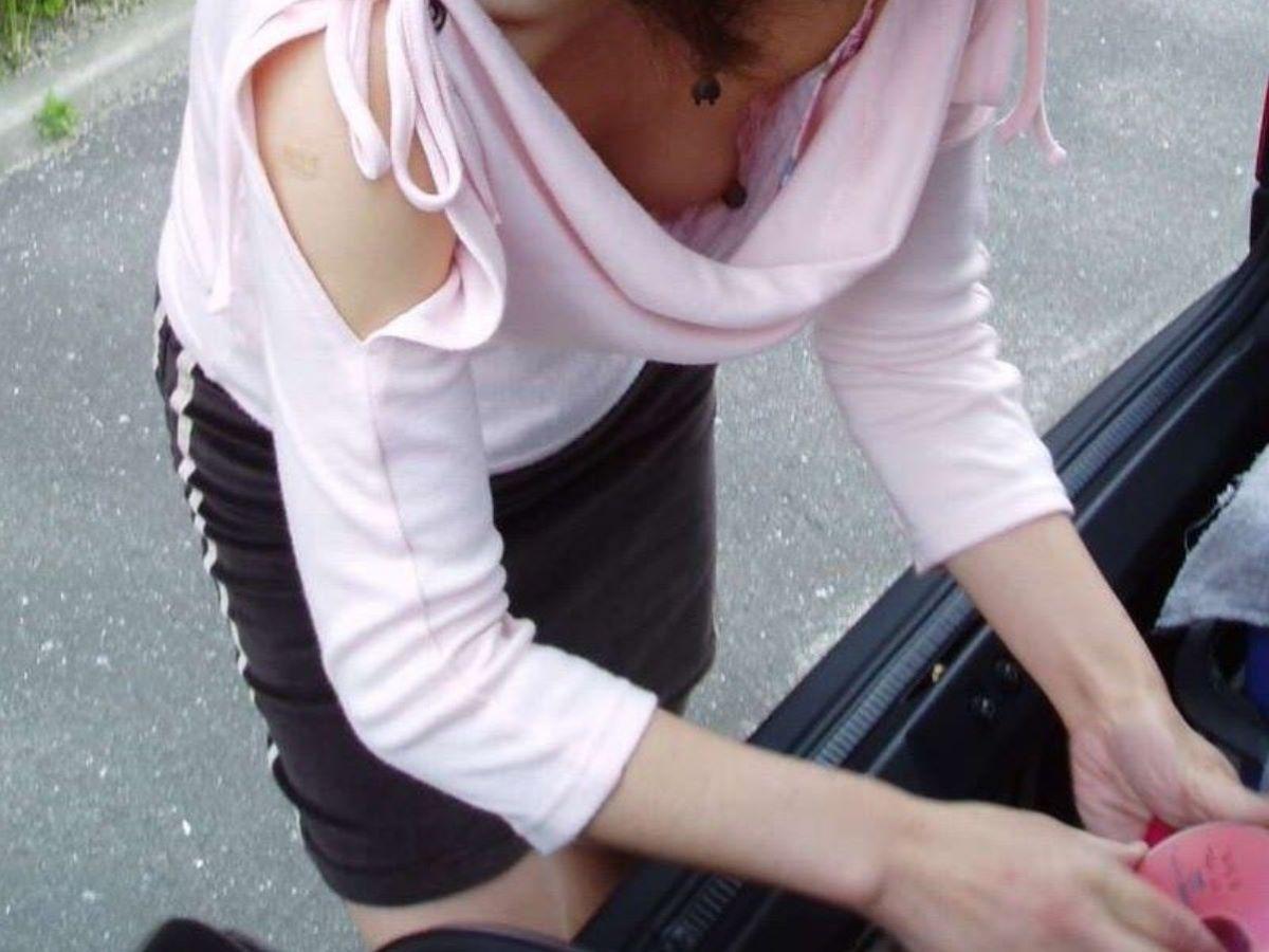 貧乳 素人 胸チラ画像 49