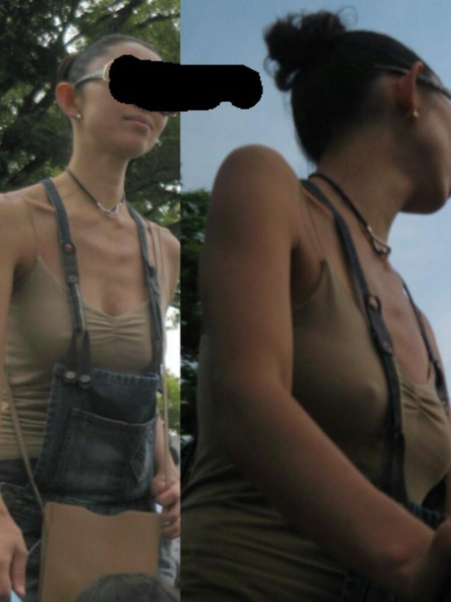 素人 胸ポチ 画像 74