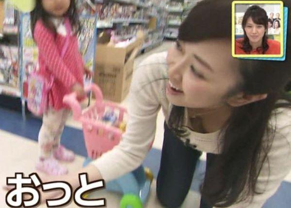 芸能人 女子アナ テレビ 胸チラ エロ画像 2