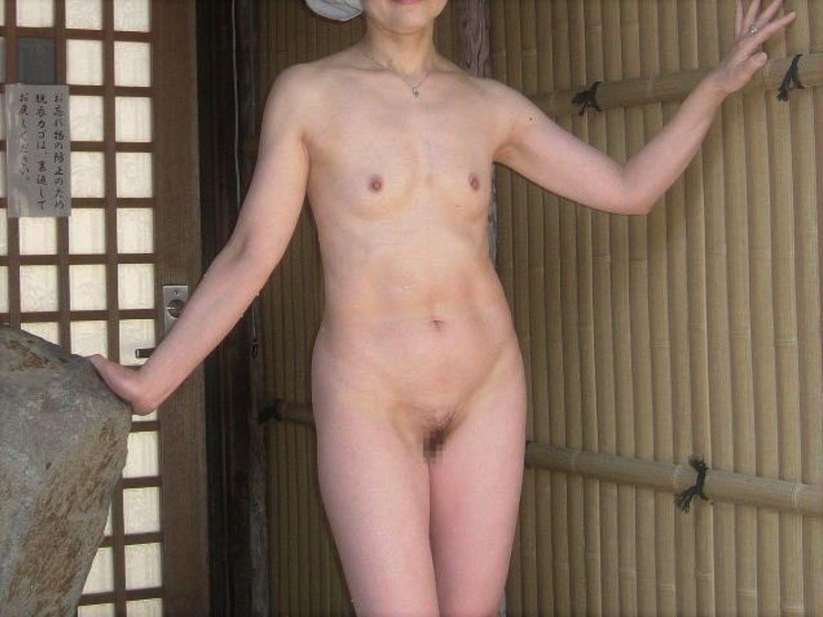 素人 貧乳熟女 エロ画像 14