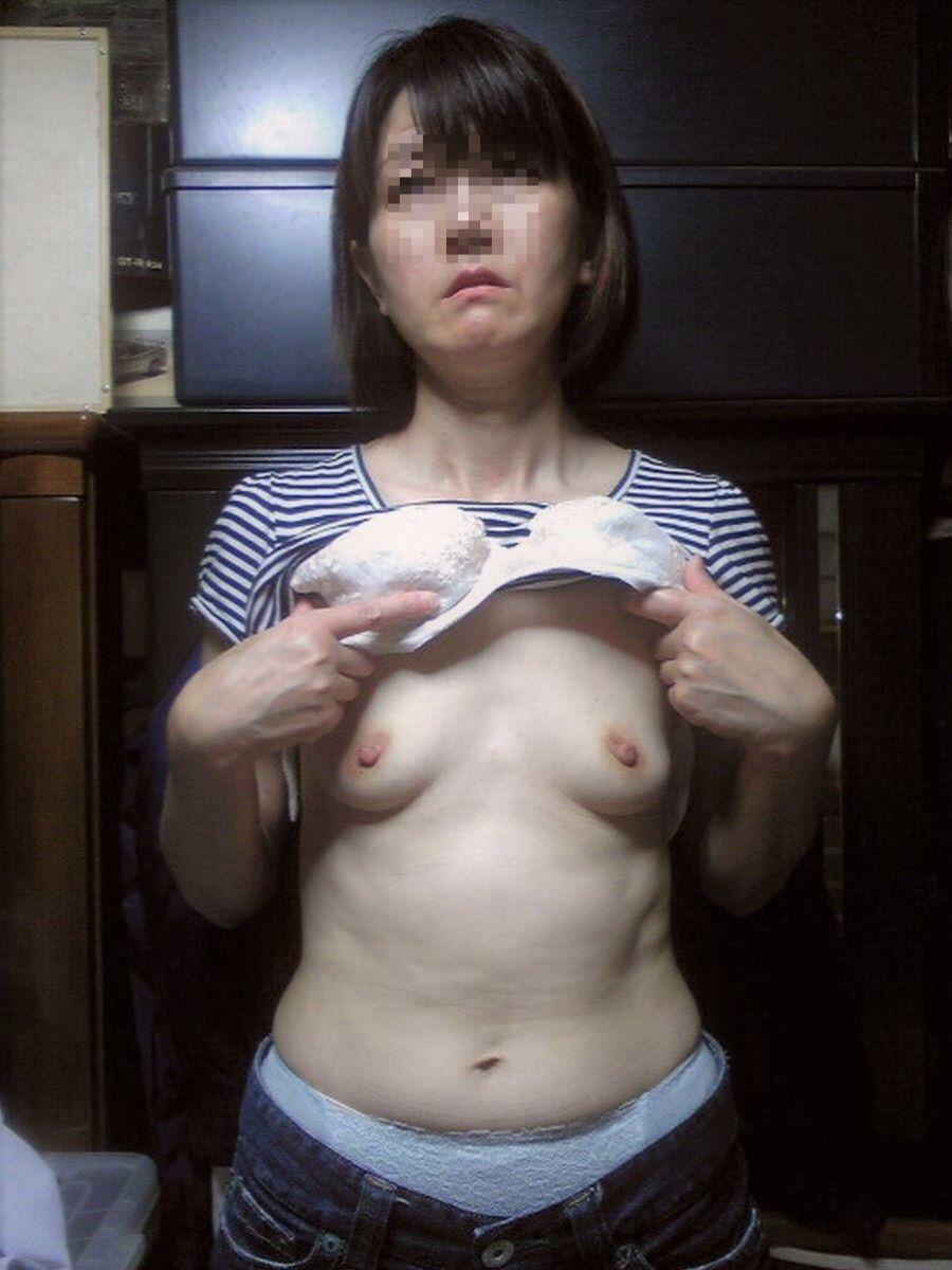 素人 貧乳熟女 エロ画像 23