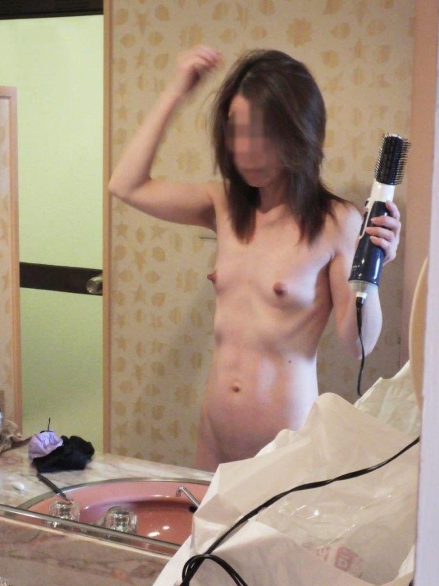 素人 貧乳熟女 エロ画像 44