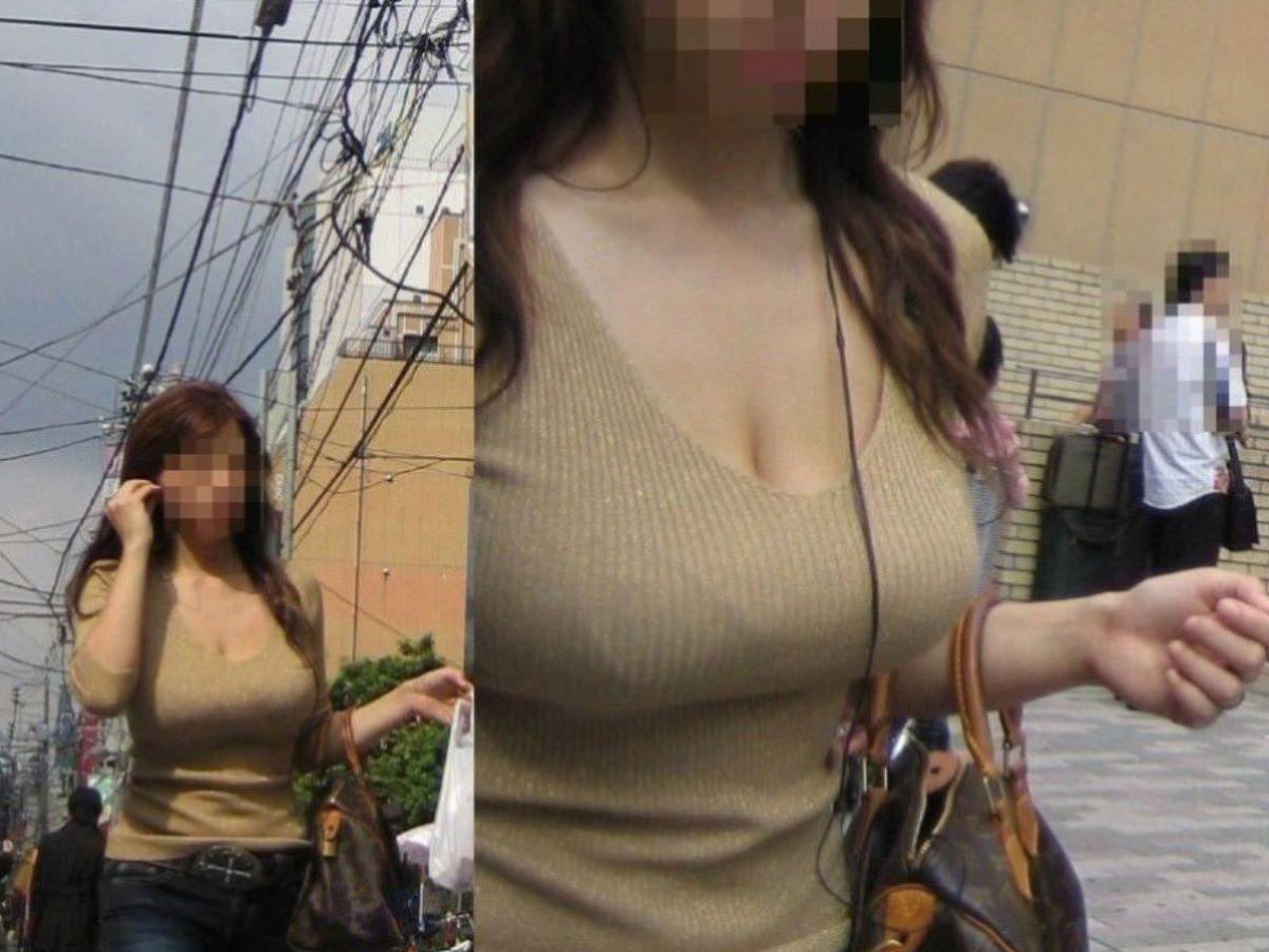 ニット 着衣巨乳 エロ画像 38
