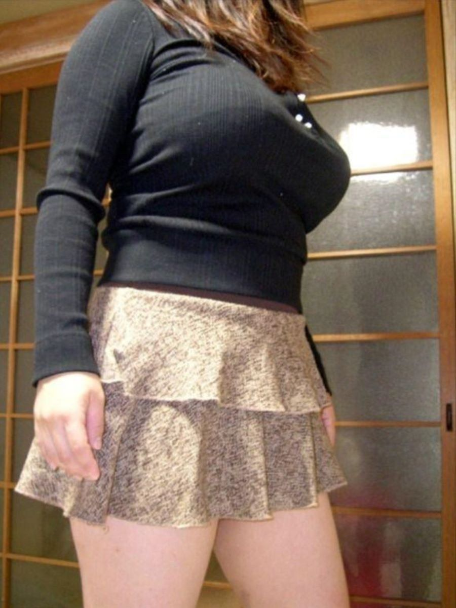 ニット 着衣巨乳 エロ画像 42
