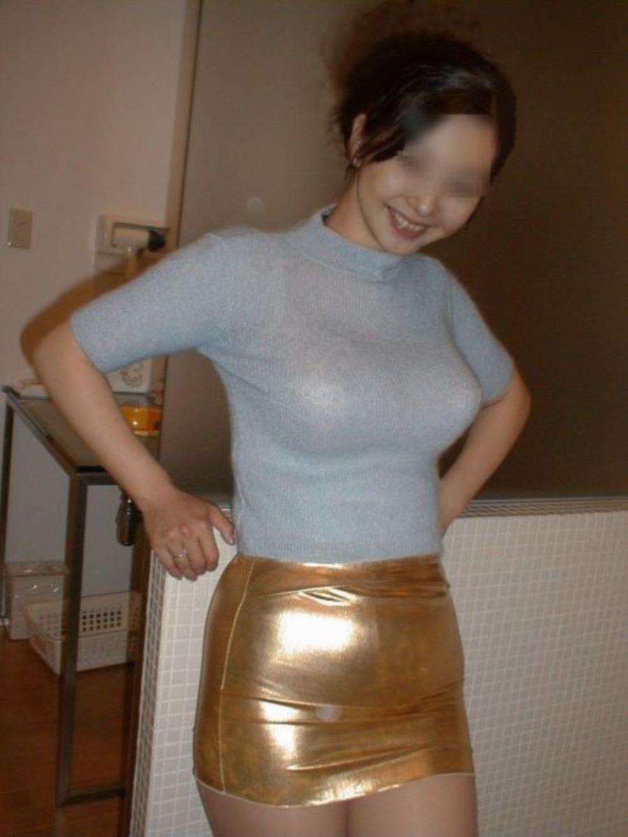 ニット 着衣巨乳 エロ画像 118