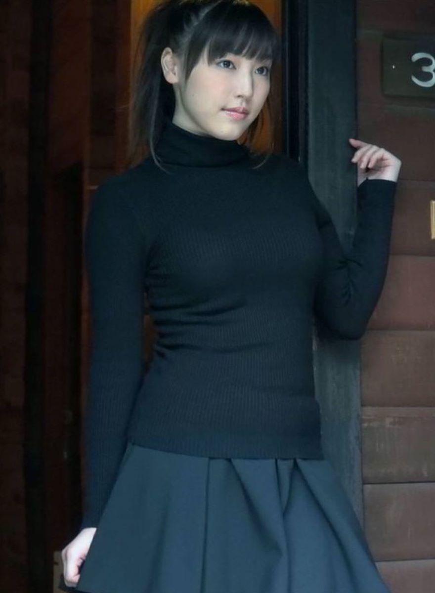 ニット 着衣巨乳 エロ画像 139