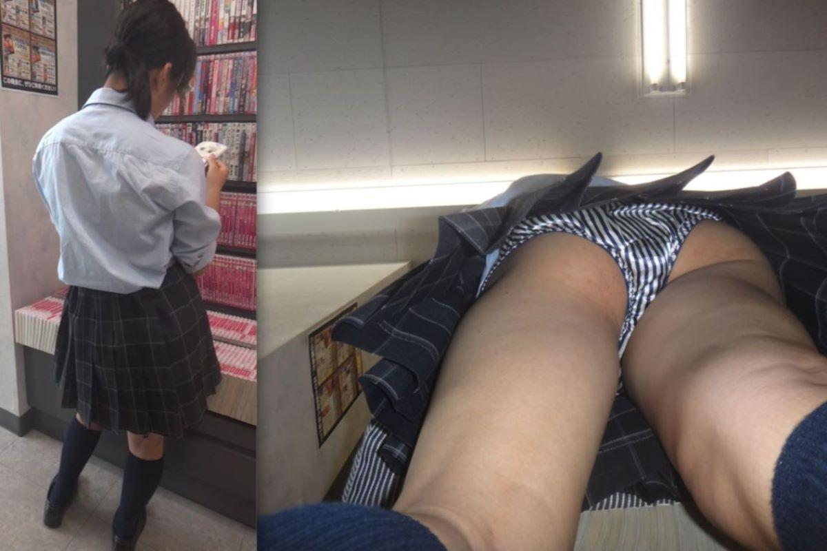 女子小学生 逆さ撮り 高画質 JK パンチラ 逆さ撮り画像 30