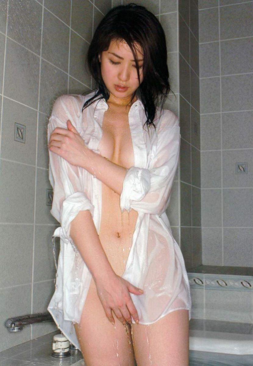 裸ワイシャツ 白シャツ エロ画像 17