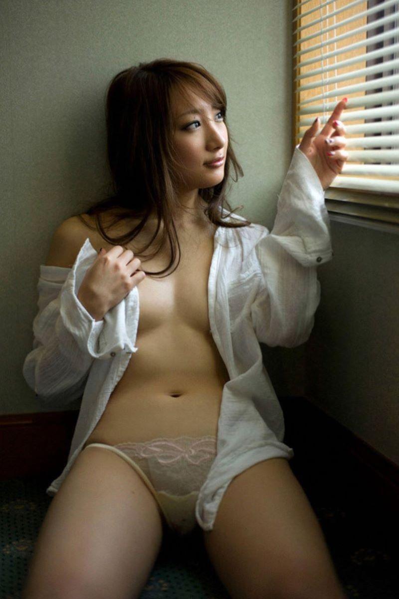 裸ワイシャツ 白シャツ エロ画像 28