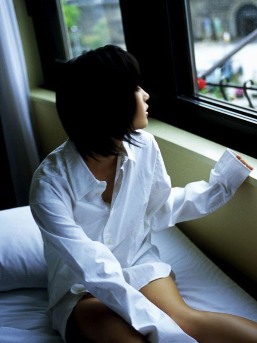 裸ワイシャツ 白シャツ エロ画像 47