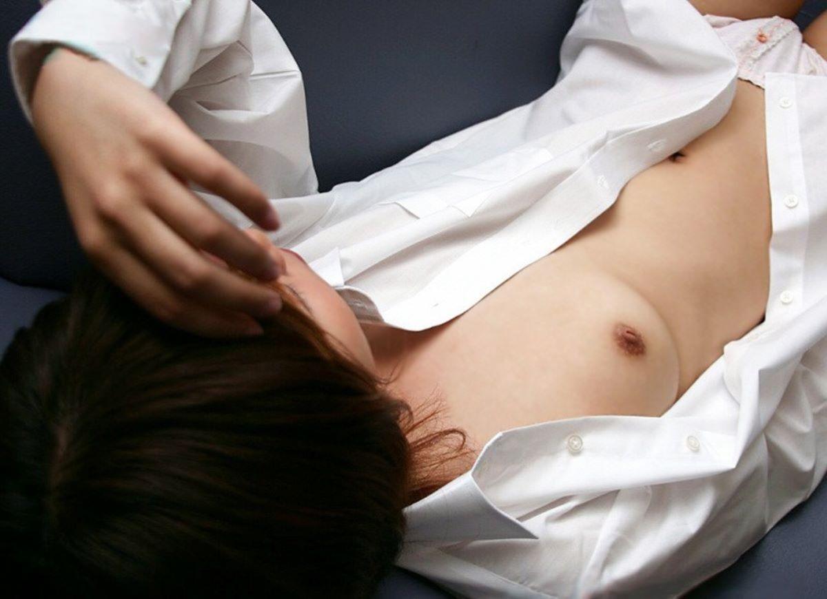 裸ワイシャツ 白シャツ エロ画像 61