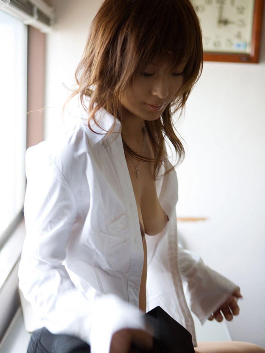 裸ワイシャツ 白シャツ エロ画像 79