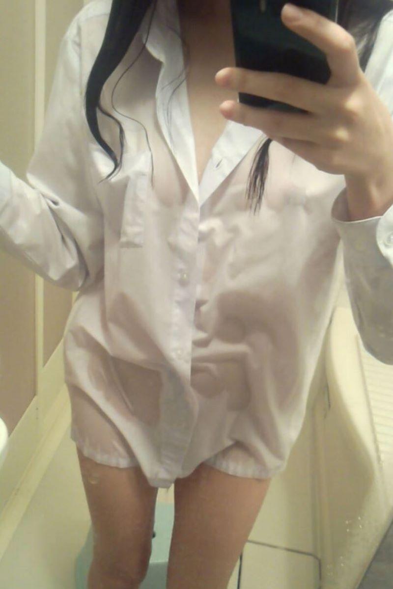 裸ワイシャツ 白シャツ エロ画像 139