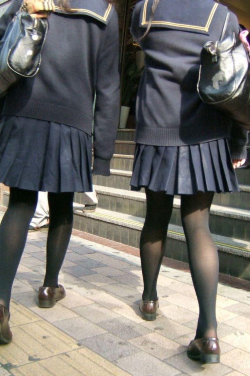 黒タイツ 黒パンスト JK画像 25