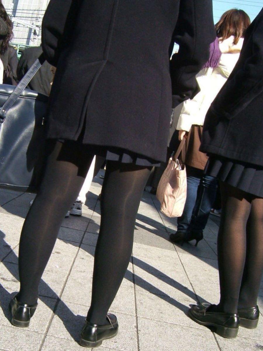 黒タイツ 黒パンスト JK画像 29