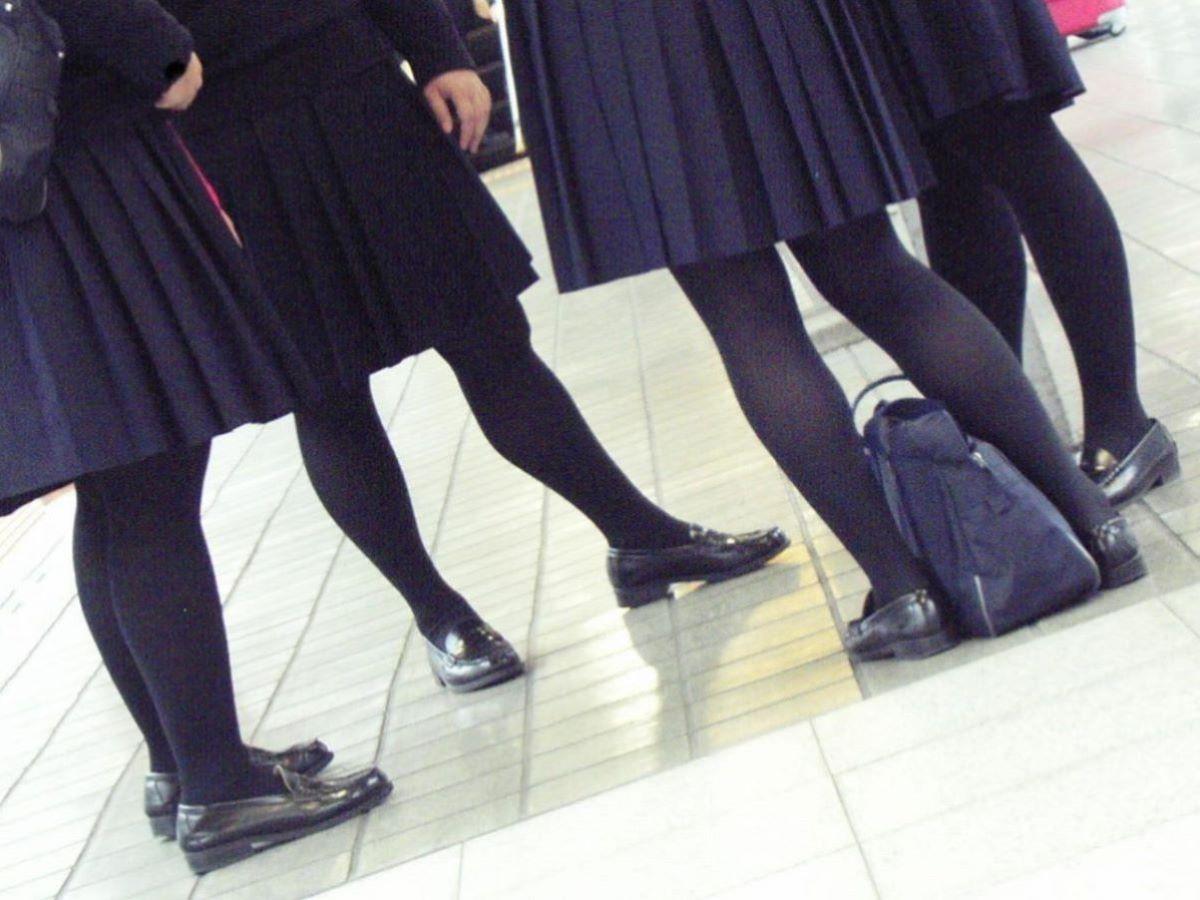 黒タイツ 黒パンスト JK画像 30