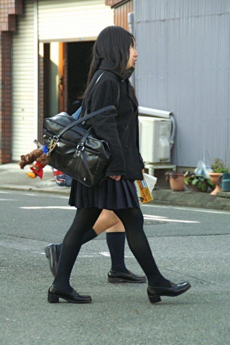 黒タイツ 黒パンスト JK画像 33