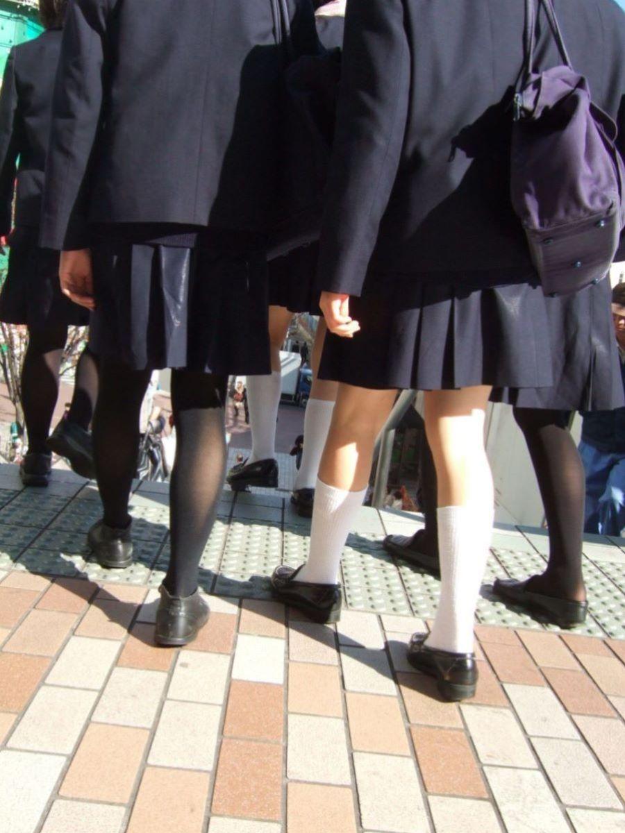 黒タイツ 黒パンスト JK画像 36