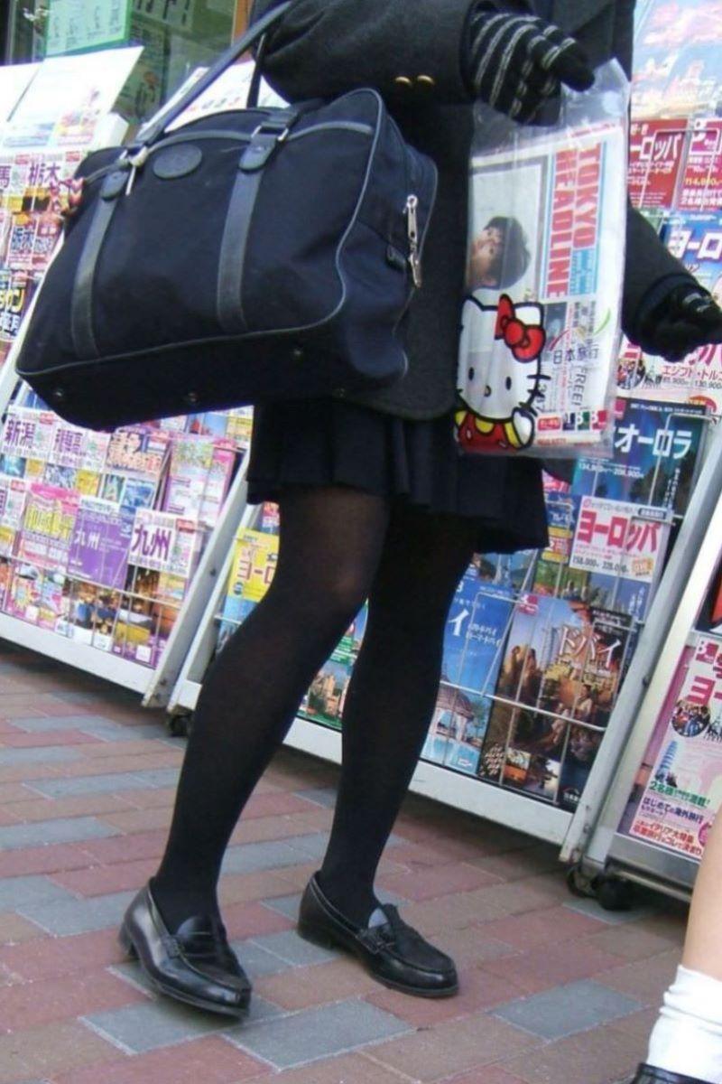 黒タイツ 黒パンスト JK画像 37