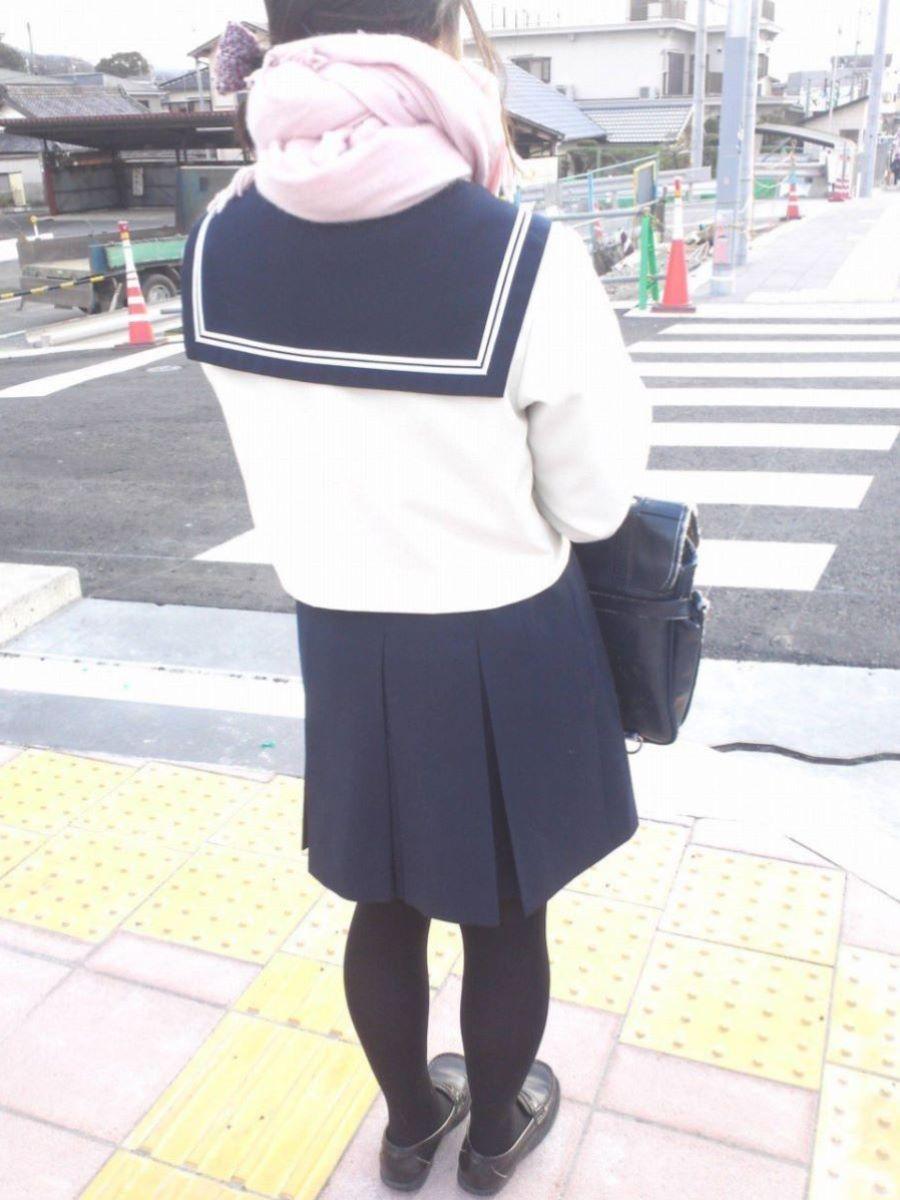 黒タイツ 黒パンスト JK画像 38
