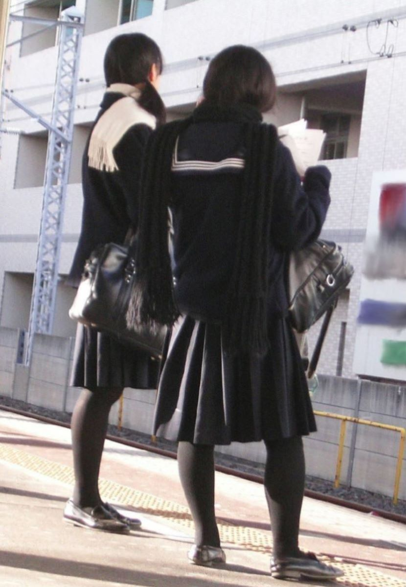 黒タイツ 黒パンスト JK画像 39