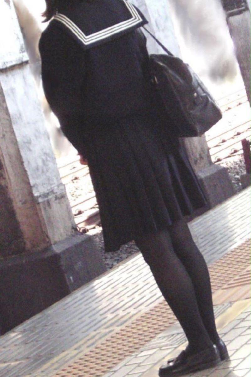 黒タイツ 黒パンスト JK画像 40