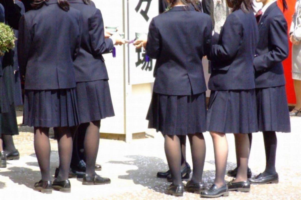 黒タイツ 黒パンスト JK画像 41